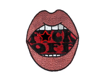 F ck Off Mouth Iron On Patch