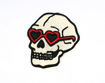 Heart Sunglasses Skull Patch