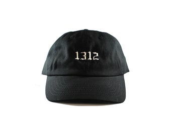 1312 Black Unstructured Dad Hat