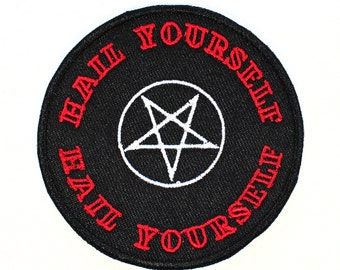 Hail Yourself Pentagram Iron On Patch