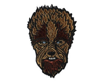 Wolfman-Horror Movie-Embroidered-Iron On- Sew On Patch