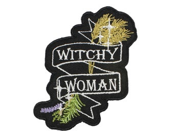 Witchy Woman Banner Iron On Embroidered Patch