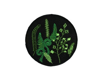 Fern Embroidered Iron On Patch