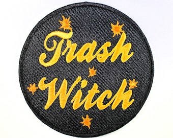 Trash Witch Iron On Patch