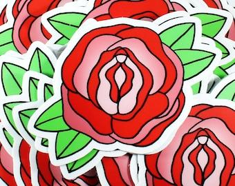 Pussy Rose Die Cut 3 Inch Sticker
