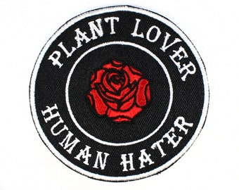 Plant Lover Human Hater Rose Patch
