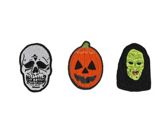 Halloween III Masks-Embroidered-Iron On-Sew On Patch