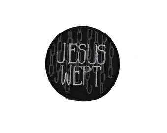 Jesus Wept-Hellraiser-Embroidered-Iron On-Sew On Patch