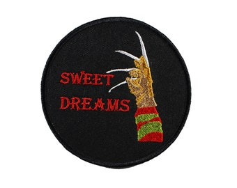 Sweet Dreams-Nightmare-Freddie-Embroidered-Iron On-Sew On Patch