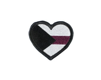 Demisexual Pride Heart Iron On Embroidered Patch