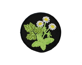 Banish Kitchen Witch Iron On Embroidered Patch