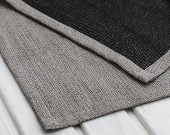 Linen bath mat, Natural rug, Sauna mat, Black shower mat, Bedroom rug, Feet rug, Cotton bath mat, Washable bath mat, Bedside rug