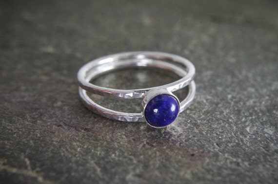 Dainty thin band with lovely gemstone beading wire ring available with many stones Amethyst dotted stacking ring