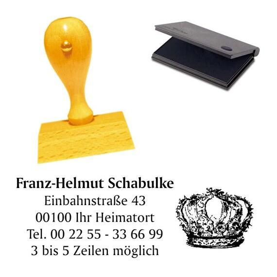 Stempel « EULE mit Buch » Adressenstempel Motivstempel Holzstempel