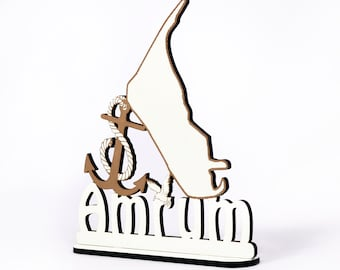 Decoration stand » Amrum Island » Sign for mooring anchor seagull - table decoration maritime decoration decoration decoration North Sea holiday holiday sea beach