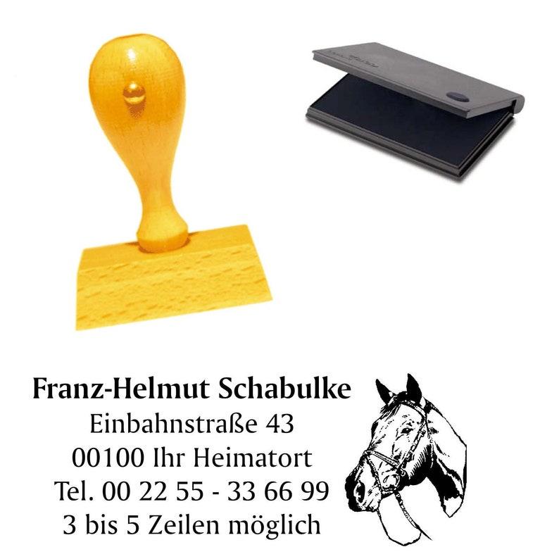 Wooden Stamp QUARTER HORSE Horse Stamp