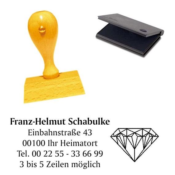 Firmenstempel Adressenstempel « FRISEUR » mit Kissen Frisör