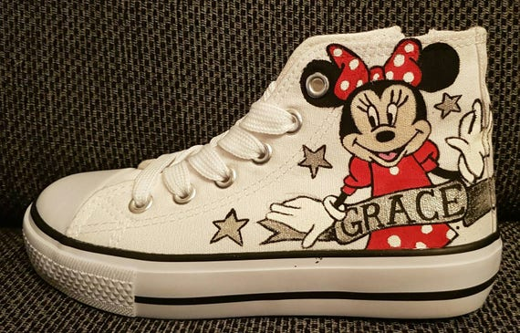 699442f8e425 Converse style hi tops sneakers shoes customised