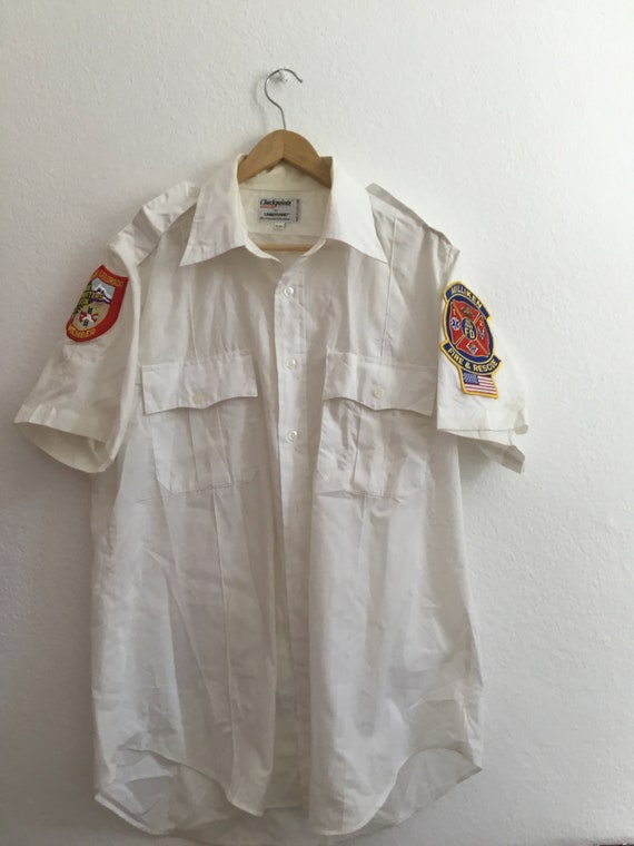 Vintage white work shirt