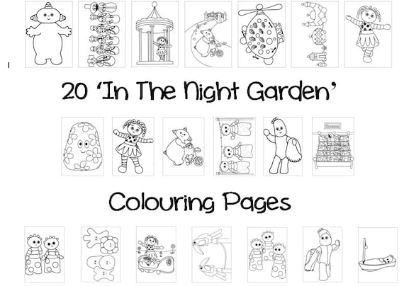- In The NIGHT GARDEN Colouring Book Pack 20 X A4 Sheets Etsy
