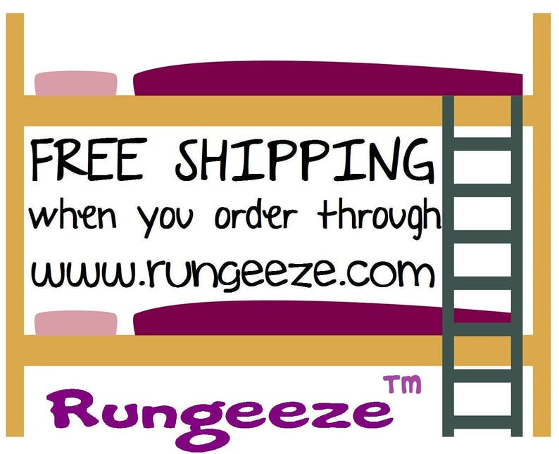 PLAIN GREY RUNGEEZE™ - Padded Bunk Bed Ladder Rung Covers  *No-Tool  Install* *Safe, Nonslip Foam Padded Covers*