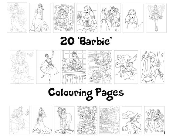 Barbie Colouring Book