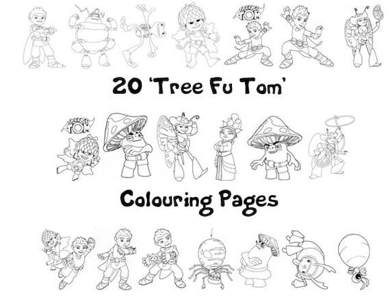Tree Fu Tom Kolorowanki Paczka 20 Arkuszy A4 Deszczowy Etsy