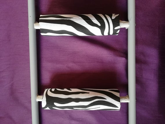 Zebra Print Rungeeze Padded Bunk Bed Ladder Rung Covers Etsy