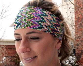 RAINBOW ZIGZAG Yoga Headband 69cdf4a8392