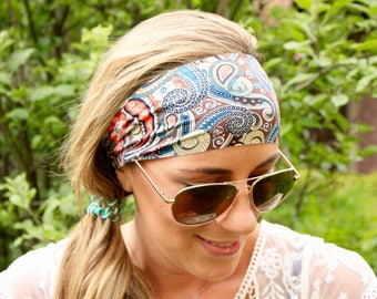 Buy 2 Get 1 Free! Paisley desert, headband women, best selling headband, Yoga Headband, boho headband-Workout Hedband, Headband for Women