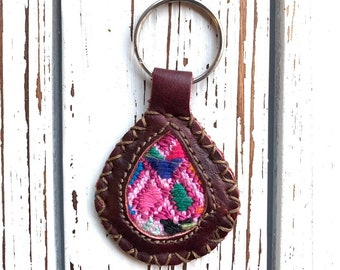 Sundrop Huipil and Leather Keychain