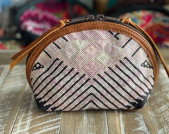 Prima Perfect Glam Clam Leather and Pouch - Blush Wings