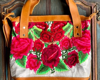 Wanderlust Rose Garden Leather Mini Lorelei Convertible Day Bag