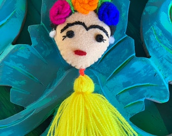 Frida Hand Embroidered Pom and Tassel Bag Pom Adventure Partner