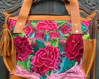Rose Festival Leather Mini Lorelei MCDB Convertible Day Bag
