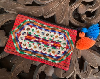 Chi Huipil Cosmetic Bag or Clutch
