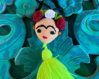 Frida Hand Embroidered Pom and Tassel Bag Pom Adventure Partner