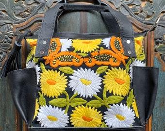 Daisy Field Leather Mini Lorelei MCDB Convertible Day Bag