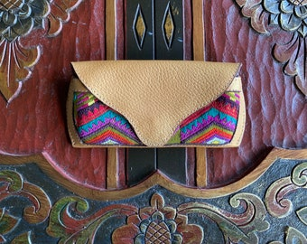 Eyeglass Case Mermaid's Pearl Pure Gold Leather