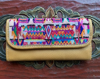 Peach Horses Wallet Mermaid's Pearl Pure Gold Leather