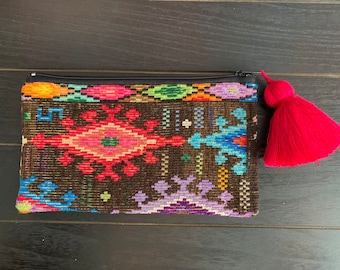 Woodstock Huipil Cosmetic Bag or Clutch