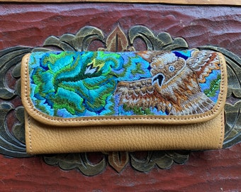 Owl Wallet Mermaid's Pearl Pure Gold Leather