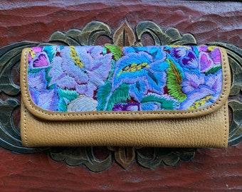 Opal Flowers Wallet Mermaid's Pearl Pure Gold Leather