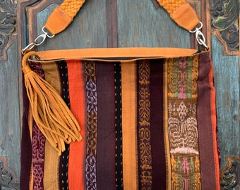 Spice Market Stripe Ideal Hobo Starlight Bag with Tan Leather