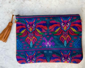 Owl Wisdom X-Large 3-in-1 Festival Bag with Butterscotch Xela Leather and Wristlet Strap and Crossbody Strap