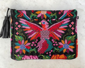 Freedom Bird X-Large 3-in-1 Festival Bag with Black Xela Leather and Wristlet Strap and Crossbody Strap