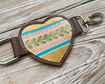 """Marrgz x Sirens and Starlight 6.5"""" Heart Strap Extender Dark Brown Leather"""