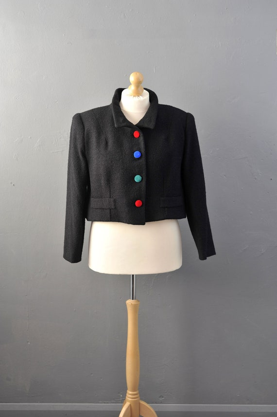 90s Cropped Wool Jacket by Droopy and Browns, Busi