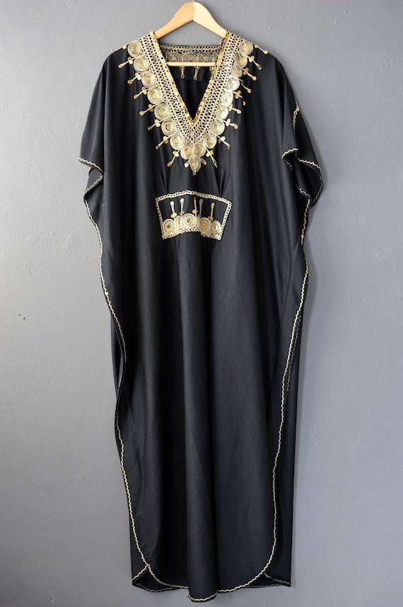 Vintage Caftan Beach Dress, Moroccan Style Holida… - image 2