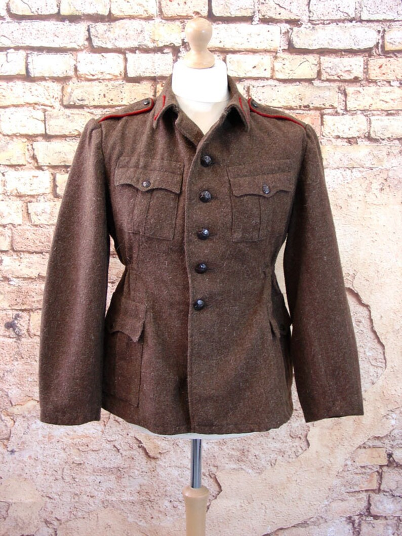 Soviet Military Surplus Wool Jacket, Bulgarian Army Coat, Winter USSR,  Sizes S to XL